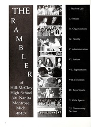 Page 6, 1973 Edition, Hill McCloy High School - Rambler Yearbook (Montrose, MI) online yearbook collection