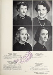 Page 15, 1951 Edition, Salem Academy - Quill Pen Yearbook (Winston Salem, NC) online yearbook collection