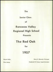 Page 5, 1957 Edition, Rancocas Valley Regional High School - Red Oak Yearbook (Mount Holly, NJ) online yearbook collection
