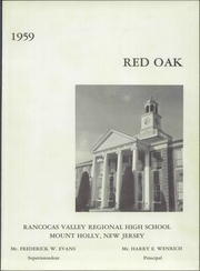 Page 5, 1959 Edition, Rancocas Valley Regional High School - Red Oak Yearbook (Mount Holly, NJ) online yearbook collection