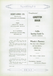 Page 92, 1932 Edition, Griffin High School - Reflections Yearbook (Griffin, GA) online yearbook collection