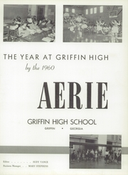 Page 7, 1960 Edition, Griffin High School - Reflections Yearbook (Griffin, GA) online yearbook collection