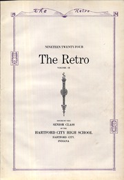 Page 7, 1924 Edition, Hartford City High School - Retro Yearbook (Hartford City, IN) online yearbook collection