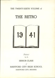 Page 7, 1941 Edition, Hartford City High School - Retro Yearbook (Hartford City, IN) online yearbook collection