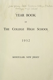 Page 7, 1932 Edition, College High School - La Campanilla Yearbook (Upper Montclair, NJ) online yearbook collection