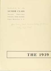 Page 6, 1939 Edition, College High School - La Campanilla Yearbook (Upper Montclair, NJ) online yearbook collection