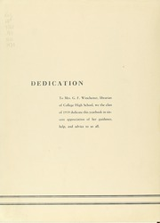 Page 8, 1939 Edition, College High School - La Campanilla Yearbook (Upper Montclair, NJ) online yearbook collection