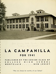 Page 5, 1941 Edition, College High School - La Campanilla Yearbook (Upper Montclair, NJ) online yearbook collection