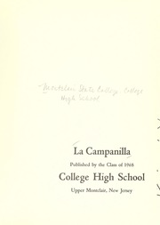Page 5, 1968 Edition, College High School - La Campanilla Yearbook (Upper Montclair, NJ) online yearbook collection