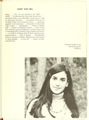 Page 13, 1970 Edition, College High School - La Campanilla Yearbook (Upper Montclair, NJ) online yearbook collection