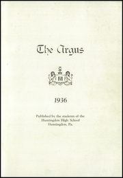 Page 5, 1936 Edition, Huntingdon Area High School - Argus Yearbook (Huntingdon, PA) online yearbook collection