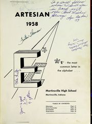 Page 5, 1958 Edition, Martinsville High School - Artesian Yearbook (Martinsville, IN) online yearbook collection