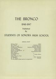 Page 5, 1947 Edition, Sonora High School - Bronco Yearbook (Sonora, TX) online yearbook collection