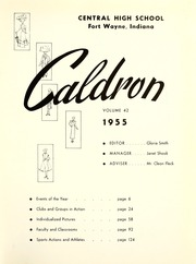 Page 5, 1955 Edition, Central High School Fort Wayne - Caldron Yearbook (Fort Wayne, IN) online yearbook collection