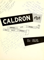 Page 5, 1958 Edition, Central High School Fort Wayne - Caldron Yearbook (Fort Wayne, IN) online yearbook collection