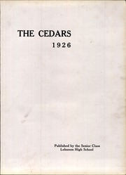 Page 9, 1926 Edition, Lebanon High School - Cedars Yearbook (Lebanon, IN) online yearbook collection