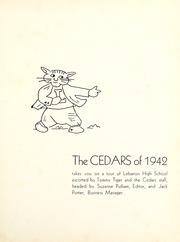 Page 5, 1942 Edition, Lebanon High School - Cedars Yearbook (Lebanon, IN) online yearbook collection
