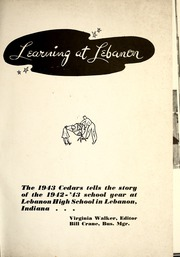 Page 5, 1943 Edition, Lebanon High School - Cedars Yearbook (Lebanon, IN) online yearbook collection