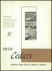 Page 5, 1958 Edition, Lebanon High School - Cedars Yearbook (Lebanon, IN) online yearbook collection