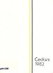 1982 Edition, Lebanon High School - Cedars Yearbook (Lebanon, IN)