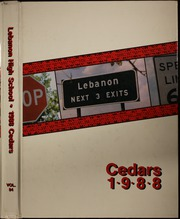 1988 Edition, Lebanon High School - Cedars Yearbook (Lebanon, IN)
