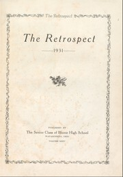 Page 5, 1931 Edition, Wapakoneta High School - Retrospect Yearbook (Wapakoneta, OH) online yearbook collection