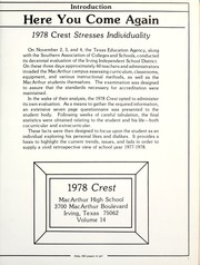 Page 5, 1978 Edition, MacArthur High School - Crest Yearbook (Irving, TX) online yearbook collection
