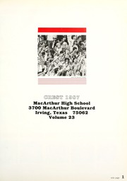 Page 5, 1987 Edition, MacArthur High School - Crest Yearbook (Irving, TX) online yearbook collection
