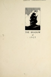 Page 9, 1927 Edition, Noblesville High School - Shadow Yearbook (Noblesville, IN) online yearbook collection
