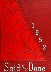 Page 1, 1952 Edition, Muskegon High School - Said and Done Yearbook (Muskegon, MI) online yearbook collection