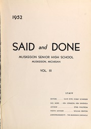 Page 3, 1952 Edition, Muskegon High School - Said and Done Yearbook (Muskegon, MI) online yearbook collection