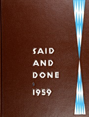 Page 1, 1959 Edition, Muskegon High School - Said and Done Yearbook (Muskegon, MI) online yearbook collection