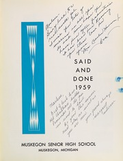Page 7, 1959 Edition, Muskegon High School - Said and Done Yearbook (Muskegon, MI) online yearbook collection