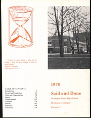 Page 5, 1970 Edition, Muskegon High School - Said and Done Yearbook (Muskegon, MI) online yearbook collection