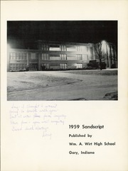 Page 5, 1959 Edition, William A Wirt High School - Sandscript Yearbook (Gary, IN) online yearbook collection