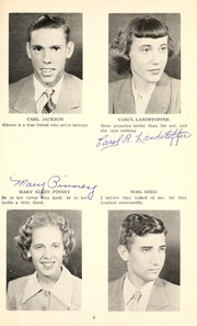 Page 13, 1952 Edition, Jackson Township School - Saxmuri Yearbook (Roanoke, IN) online yearbook collection