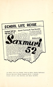 Page 5, 1952 Edition, Jackson Township School - Saxmuri Yearbook (Roanoke, IN) online yearbook collection