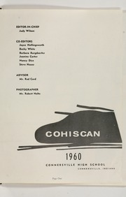 Page 5, 1960 Edition, Connersville High School - Cohiscan Yearbook (Connersville, IN) online yearbook collection