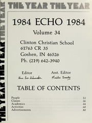 Page 5, 1984 Edition, Clinton Christian School - Echo Yearbook (Goshen, IN) online yearbook collection