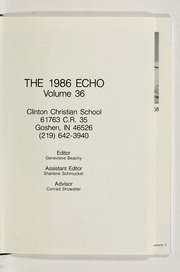 Page 5, 1986 Edition, Clinton Christian School - Echo Yearbook (Goshen, IN) online yearbook collection