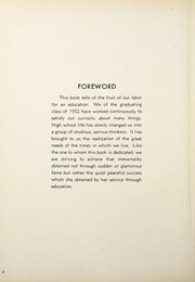 Page 6, 1952 Edition, Harriet Whitney High School - First Lady Yearbook (Toledo, OH) online yearbook collection