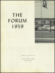 Page 6, 1959 Edition, Fulton High School - Forum Yearbook (Atlanta, GA) online yearbook collection