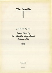 Page 7, 1939 Edition, St Wendelin High School - Foslin Yearbook (Fostoria, OH) online yearbook collection