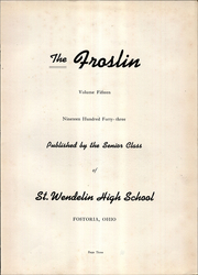 Page 7, 1943 Edition, St Wendelin High School - Foslin Yearbook (Fostoria, OH) online yearbook collection