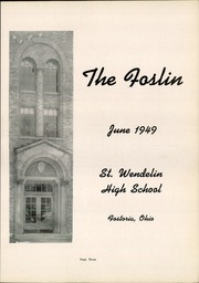 Page 7, 1949 Edition, St Wendelin High School - Foslin Yearbook (Fostoria, OH) online yearbook collection
