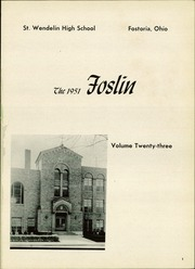 Page 5, 1951 Edition, St Wendelin High School - Foslin Yearbook (Fostoria, OH) online yearbook collection