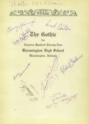 Page 5, 1929 Edition, Bloomington High School - Gothic Yearbook (Bloomington, IN) online yearbook collection