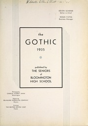 Page 7, 1935 Edition, Bloomington High School - Gothic Yearbook (Bloomington, IN) online yearbook collection