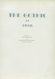 Page 7, 1936 Edition, Bloomington High School - Gothic Yearbook (Bloomington, IN) online yearbook collection