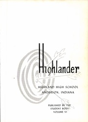 Page 5, 1961 Edition, Highland High School - Highlander Yearbook (Anderson, IN) online yearbook collection